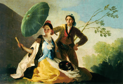 Couple with Parasol on the Paseo - Francisco Goya - WikiPaintings.org