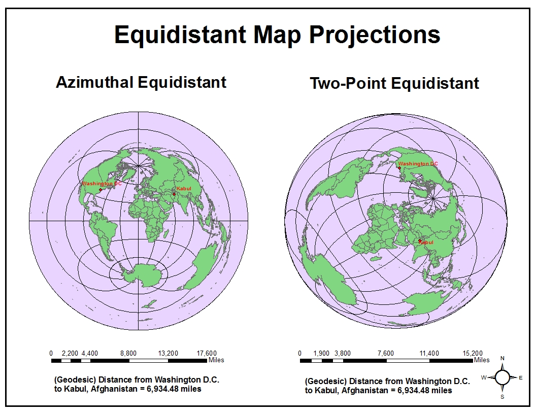this category of map projections are also used for navigational purposes but also for radio and seismic mapping however even within the various