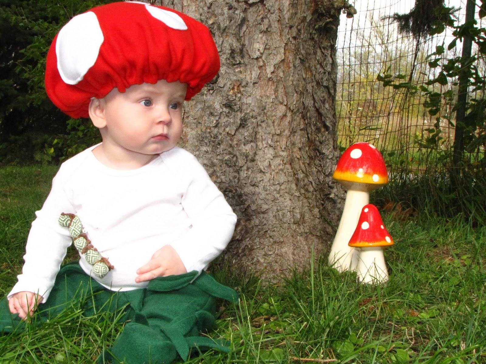 Wispy House: DIY Baby Mushroom Halloween Costume