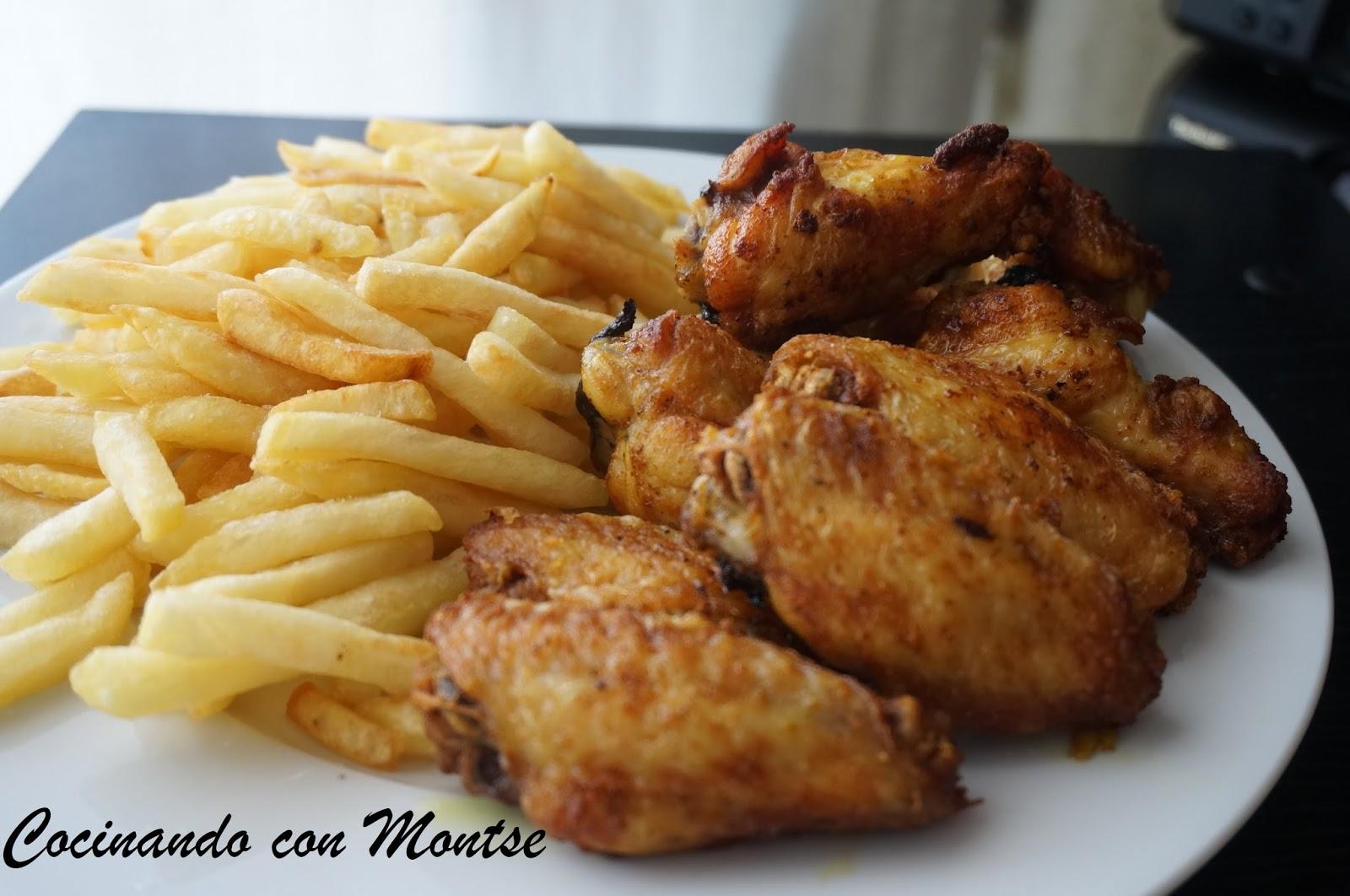 Cocinando con montse alitas de pollo fritas - Como preparar pinchos de pollo ...