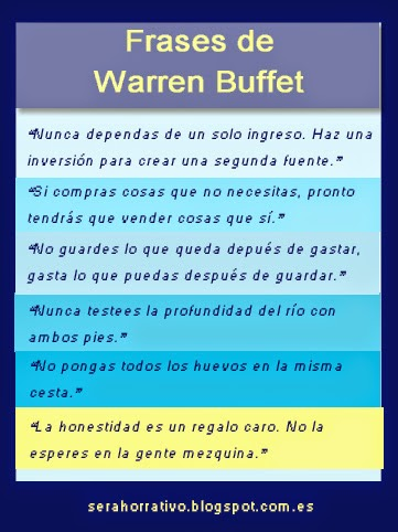 frases Warren Buffet