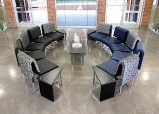 Modern Lobby Seating Configuration