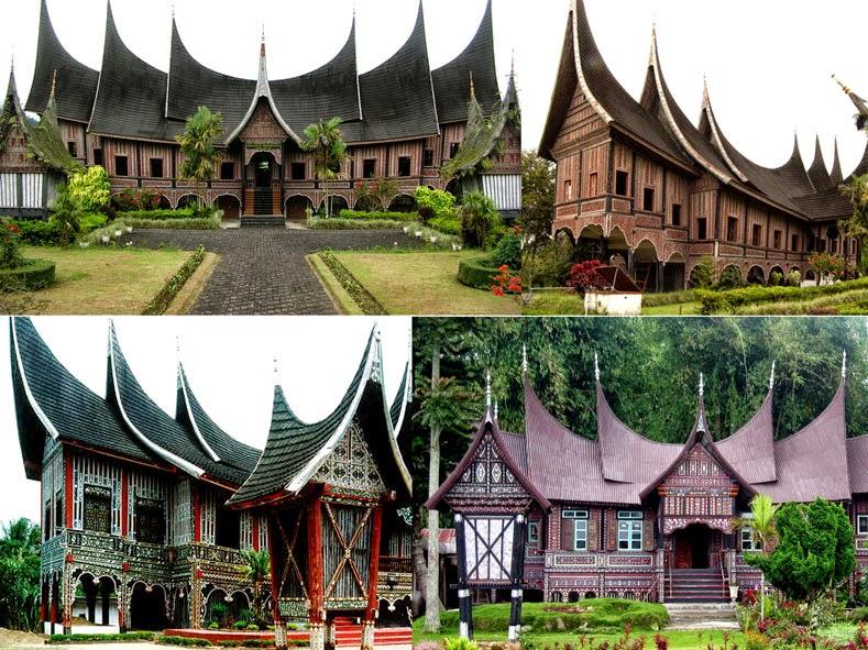 Bentuk desa dan rumah suku Minangkabau