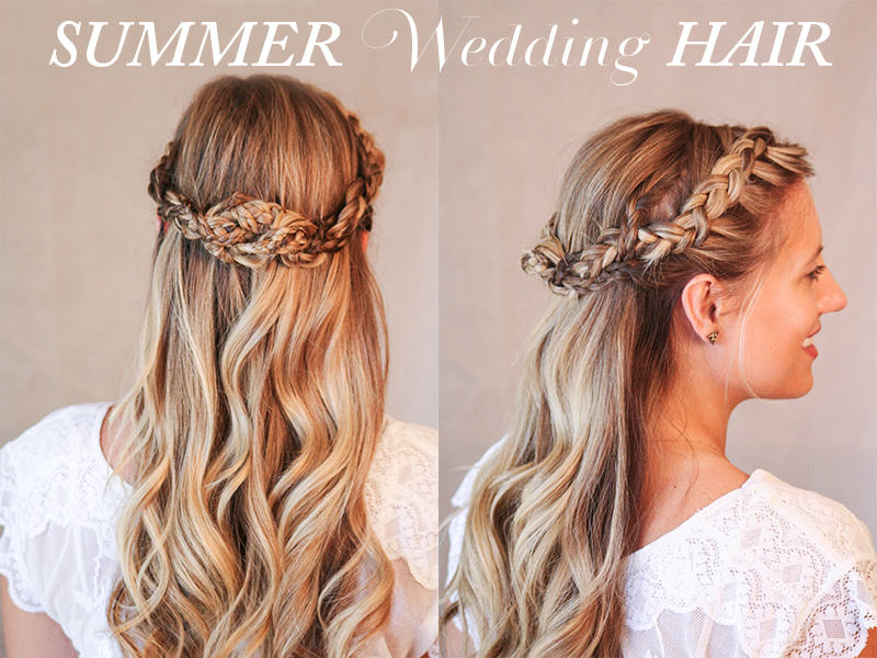 summer wedding half up hairstyles for long hair calgary edmonton toronto red deer. Black Bedroom Furniture Sets. Home Design Ideas