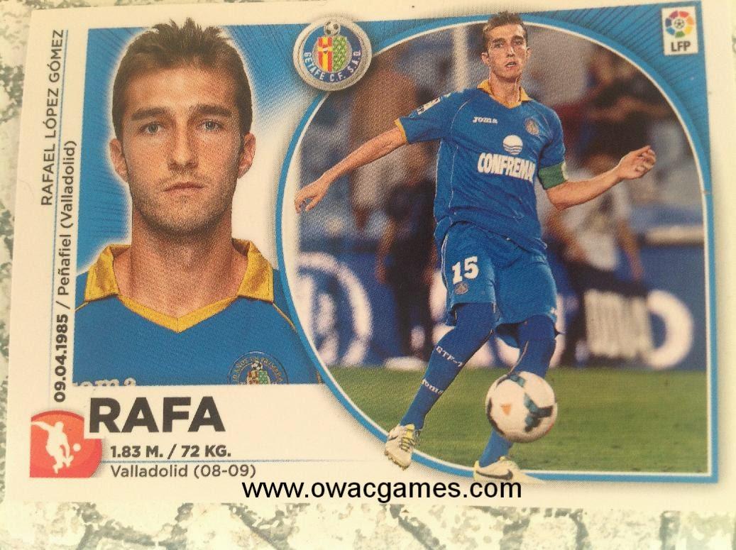 Liga ESTE 2014-15 cromo normal Rafa