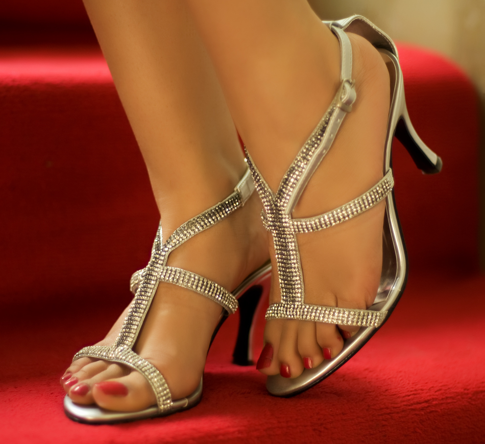 Metro wedding silver shoes