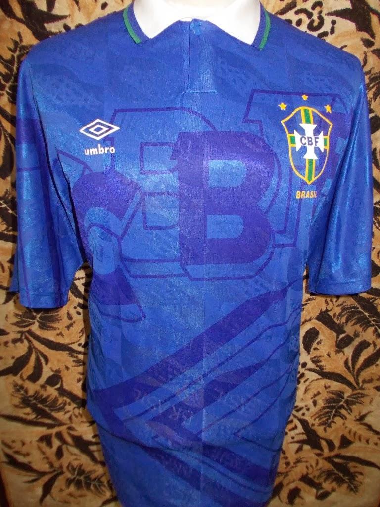 BRAZIL WORLD CUP 1994 JERSEY--RM 120.00-SIZE L/XL