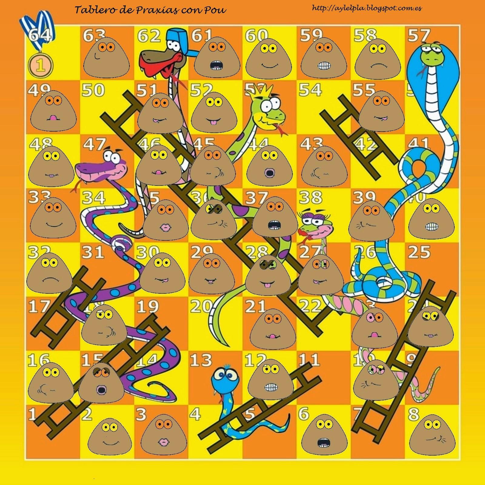 El rinconcito de audici n y lenguaje for Escaleras y serpientes imprimir