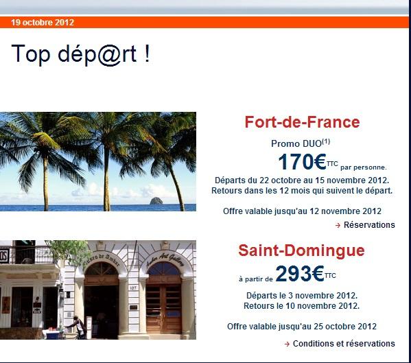 voyages martinique ou r publique dominicaine d s 170 euros air france guadeloupe air. Black Bedroom Furniture Sets. Home Design Ideas