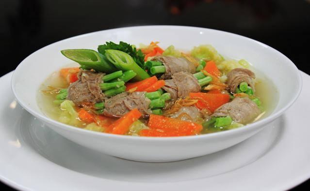 Resep Masakan Sop Buncis Gulung Daging Spesial
