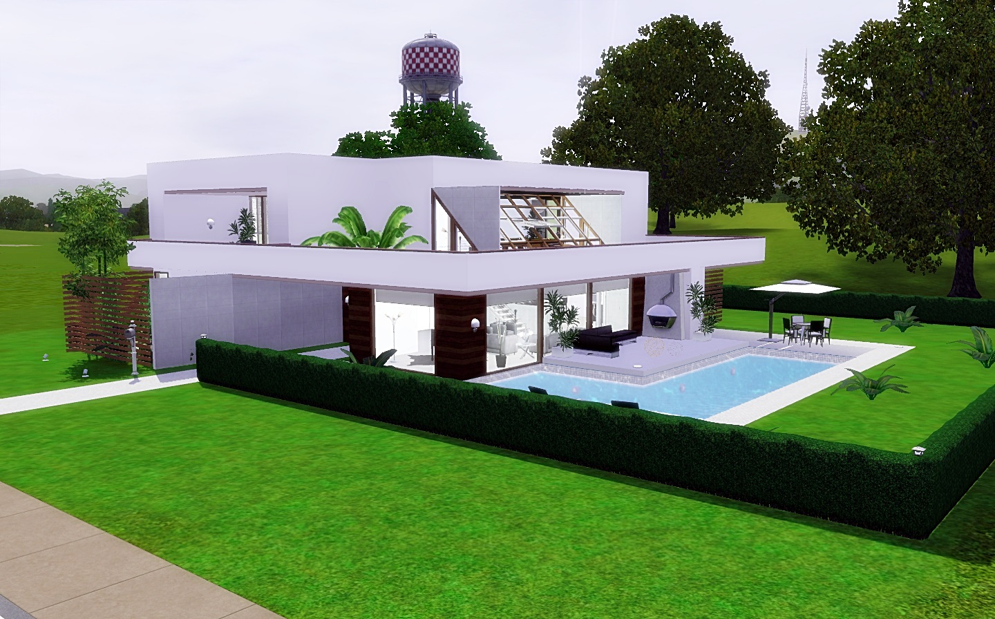 Modern home blueprints sims 3 joy studio design gallery for Modern house 3