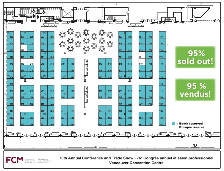 North coast review much to discuss for the federation in for Trade show floor plan