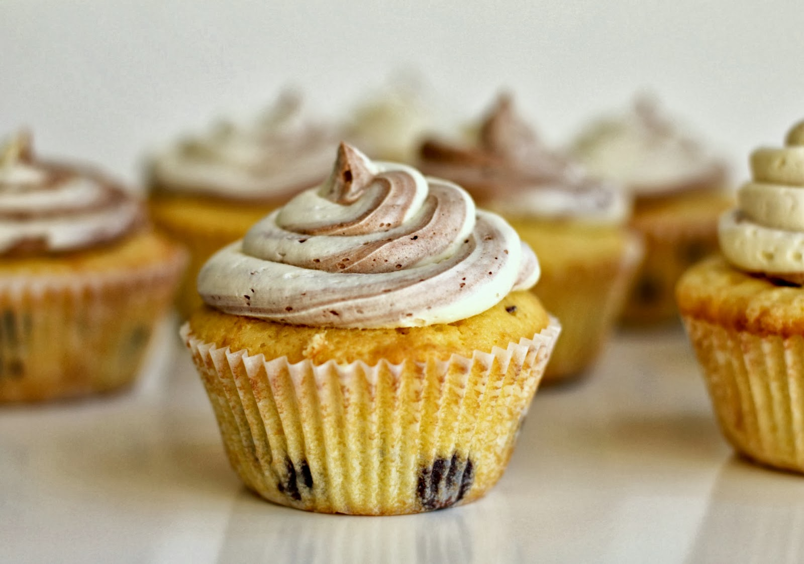 Milk and Honey: Orange Chocolate Chip Cupcakes