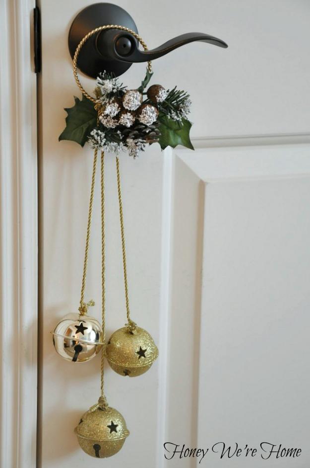 Christmas Craft  Jingle Bell Door Hangers U0026 Sticker Magnets