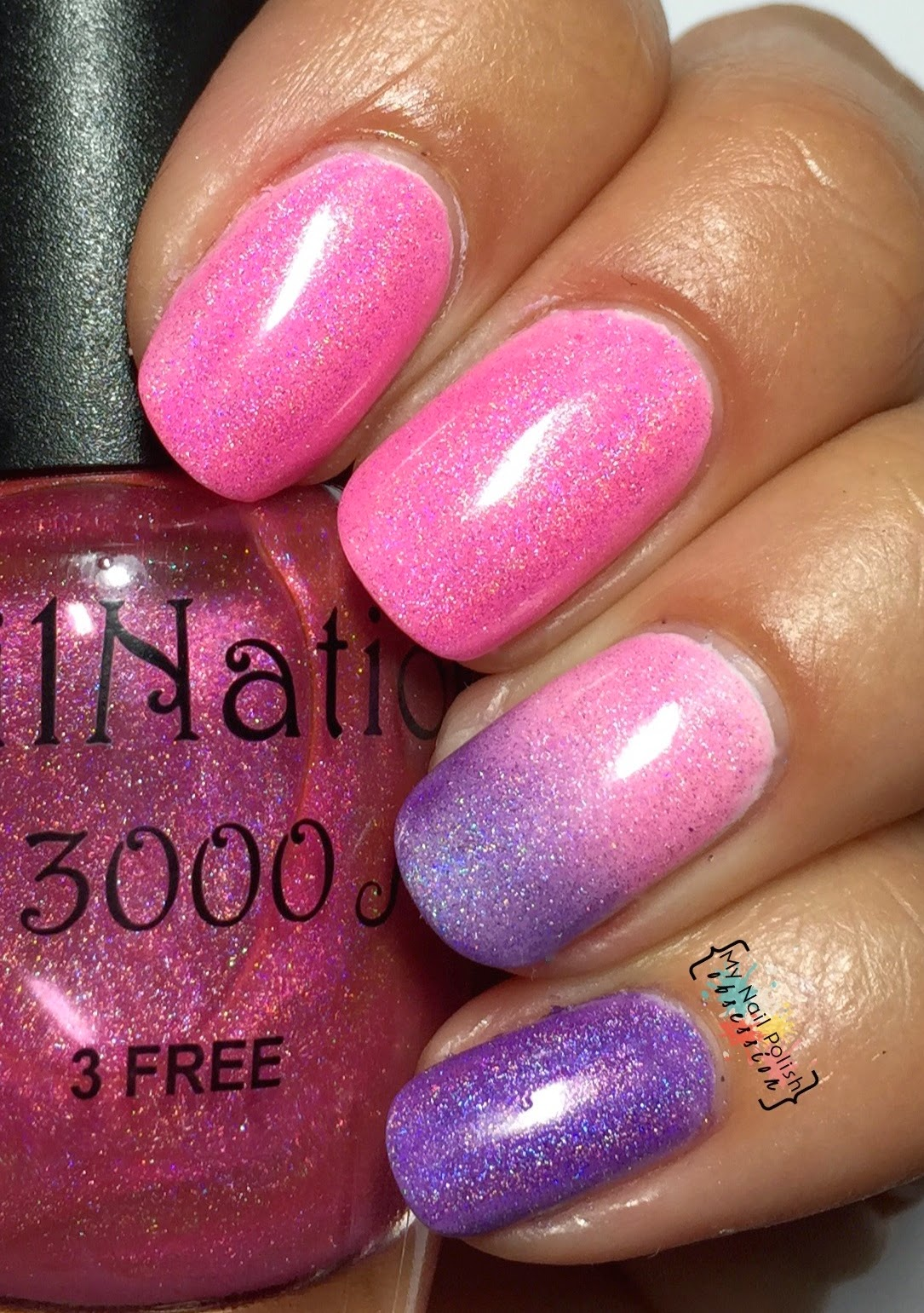 Nail Nation 3000 Shock Pink Color Tint & Grape Escape Color Tint