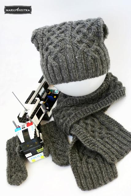 Вязание спицами - Шапка, шарф, варежки для мальчика. nockhaverg. Дата. Добавил