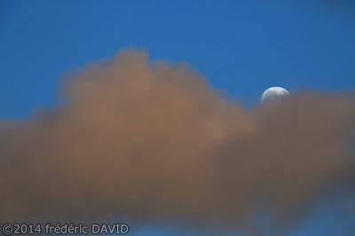 ciel Lune nuages soir Seine-et-Marne