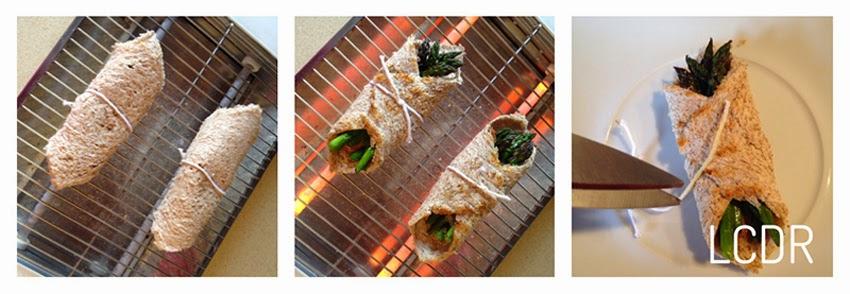 Receta de pañuelos de foie, jamón y trigueros 02