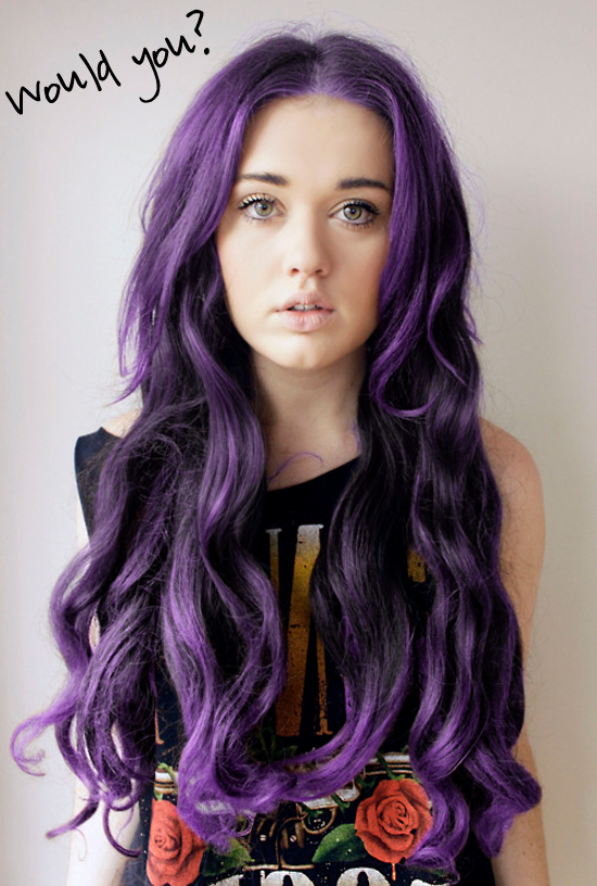 Purple hair isn't too bad, though I would never want my hair to be ...