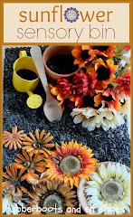 sunflower sensory bin