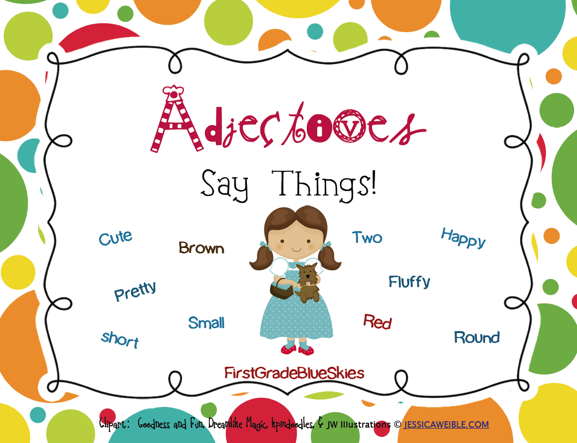 Adjectives Clip Art