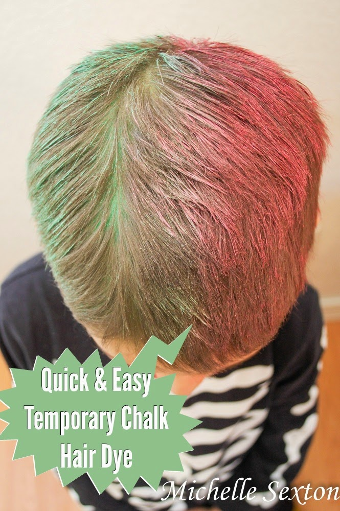 Quick and Easy Temporary Hair Dye Using Chalk - click through and see more @ SoHeresMyLife.com