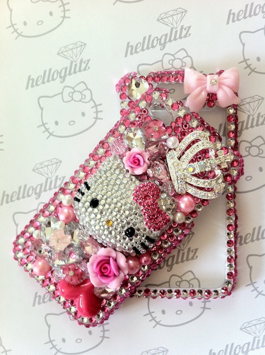3d hello kitty pink silver bling iphone 4 caseIphone 4 Cases Hello Kitty Bling
