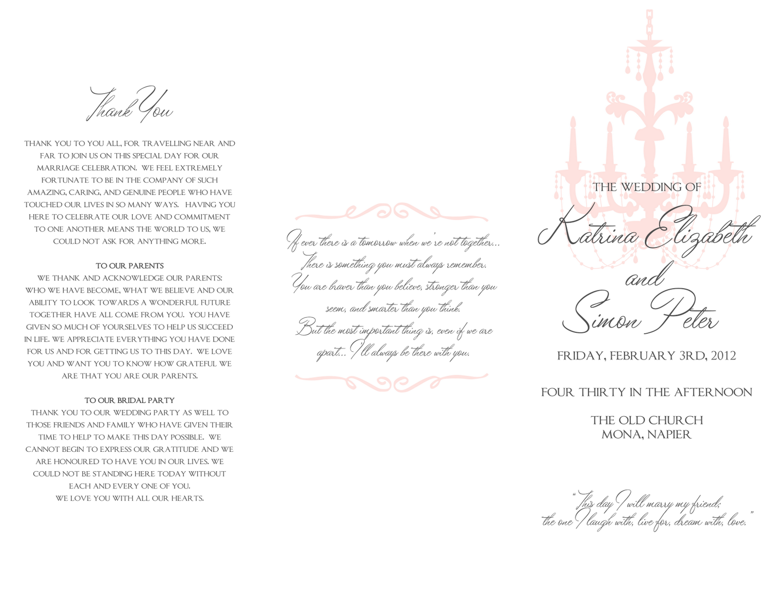 Signatures by Sarah: Wedding program, guestbook sign, and reserved ...