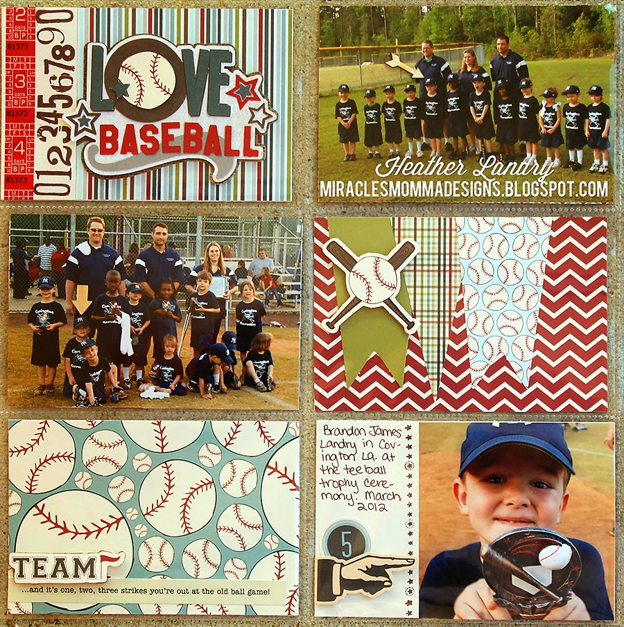 Trophy_Baseball Team_Scrapbook_Project Life