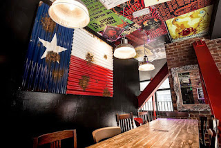 Texas flag, mezzanine floor at The BBQ Collective at The Hop Sheffield