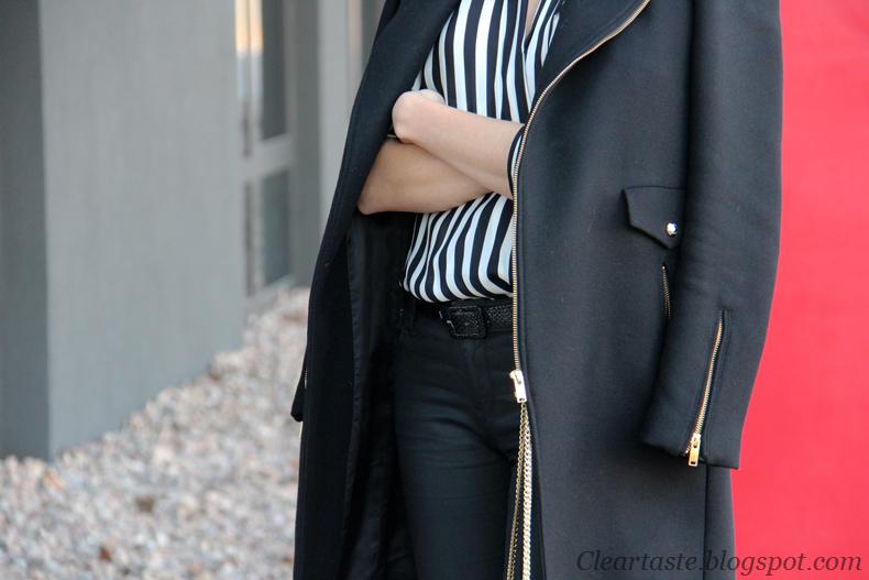 black biker coat
