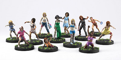 Sexy Zombie Vixens Wargames Factory Alternative Optional Zombicide hot plastic