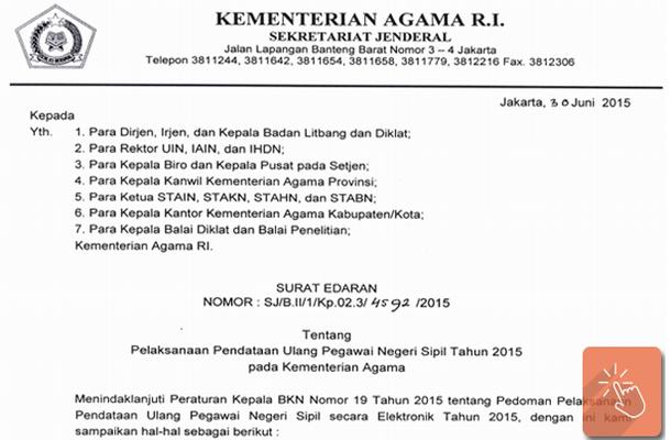 Pelaksanaan PUPNS Tahun 2015 pada Kementerian Agama