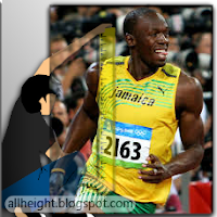 What is the height of Usain Bolt?