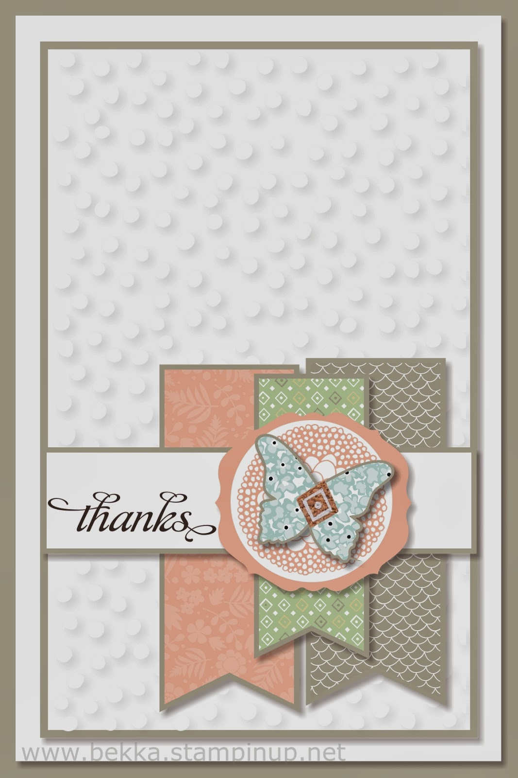 Sale-a-Bration Thank You Card from Bekka Prideaux Stampin' Up! UK Independent Demonstrator -check out her blog here