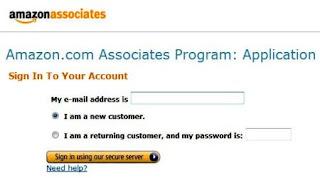 Sign up Amazon