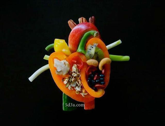 قلب بشري ام ماذا ؟ خدع بصريةhuman-hart-vegetable--optical-illusio