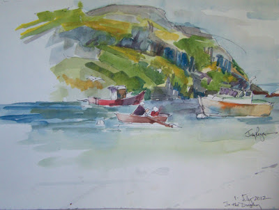 Manana painting Monhegan