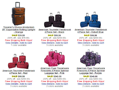 "Buy a new suitcase for summer vacation on this labor day occasion. You can save up to 50% with ""bagsbuy"" online shop."