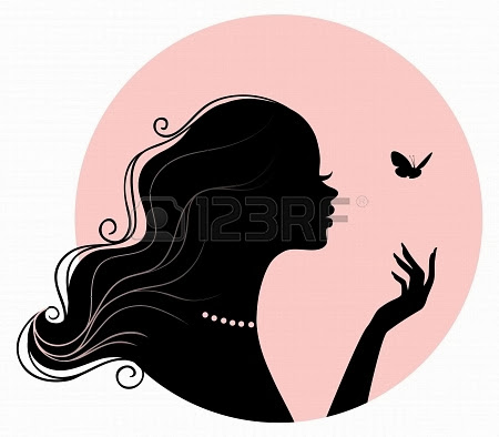 Siluetas de caras de chicas. | Ideas y material gratis para ...