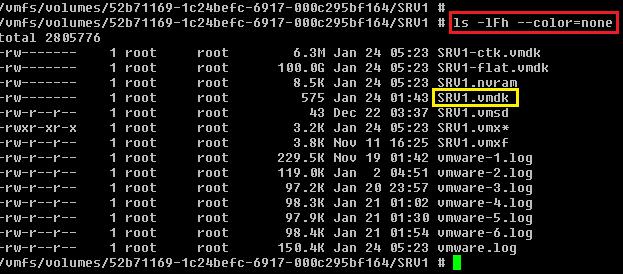 Anotar fichero VMDK