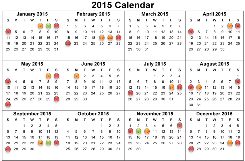 School holiday dates 2014/2015