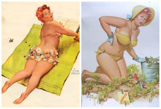 Hilda pinup plus size in bikini