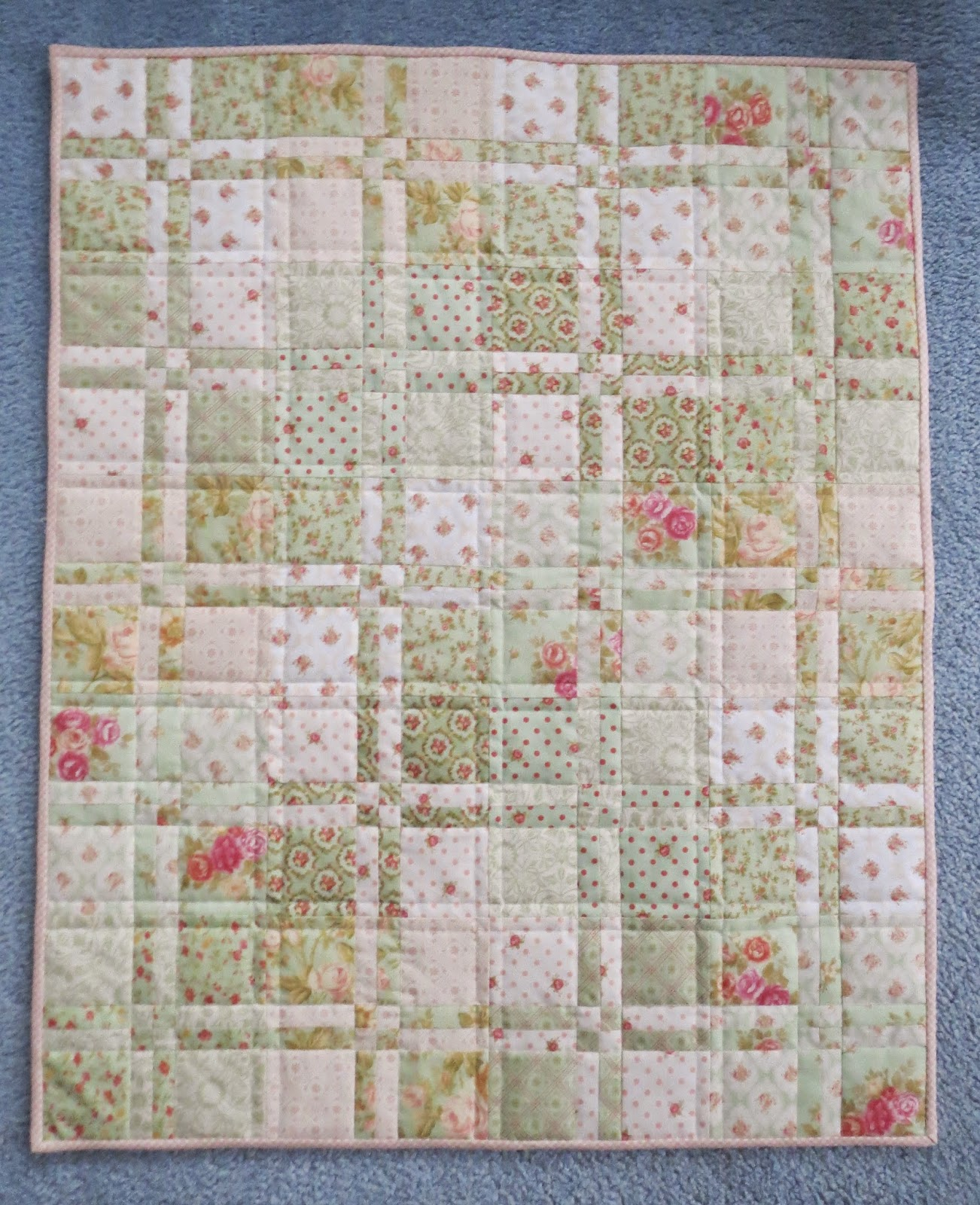 Quilting on main street february 2015 i followed missouri star quilt cos video on youtube for the construction it is super easy and gives a nice result that looks like much more work than baditri Choice Image
