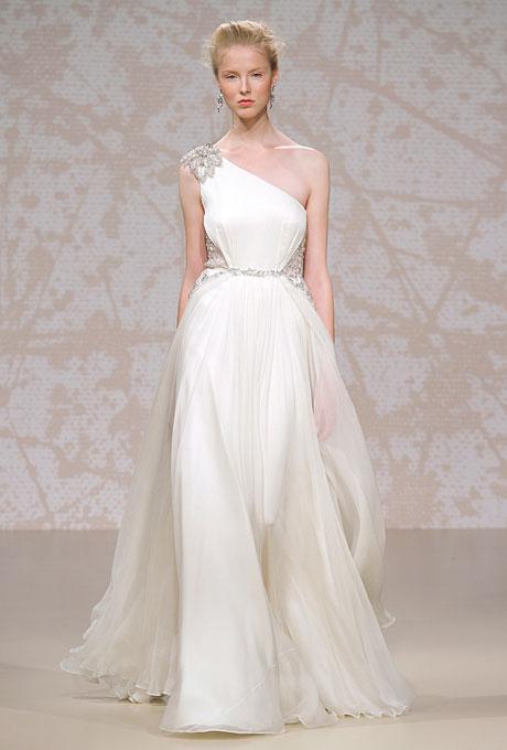 Bridal Dresses UK: Wedding Dresses With Asymmetrical Necklines