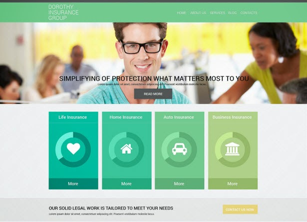 Online Insurance Services Drupal Template