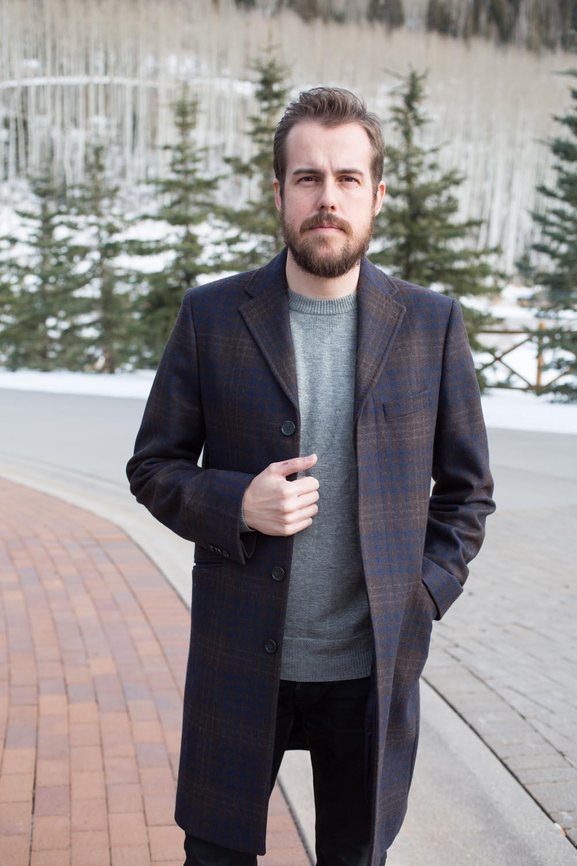 Menswear Plaid Coat