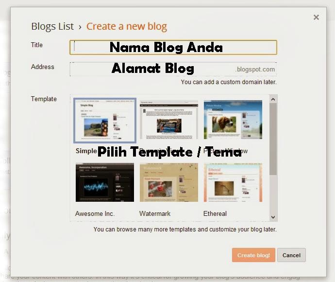 Cara Membuat Blog Sendiri Di Blogspot - 2