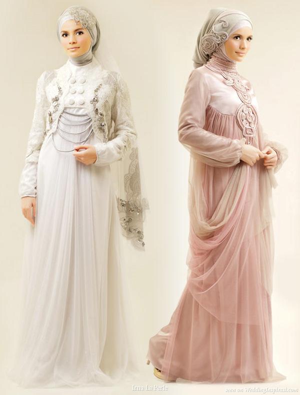 kesan cantik dan anggun dari kebaya pengantin muslim namun tetap