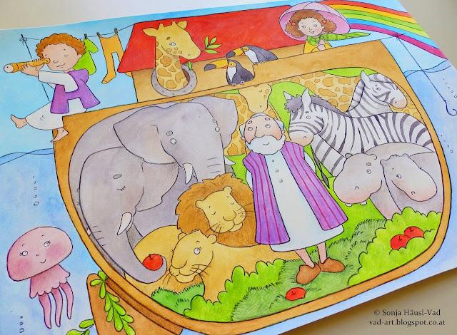 Noe - biblické ilustrace